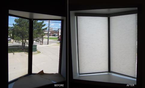 Corner window rolls
